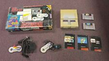 Super Nintendo SNES Super Set Super Mario World and Super Mario All Stars set