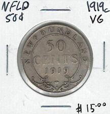 Canada Newfoundland NFLD 1919c 50 Cents VG Lot#5