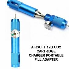 0-1500 Pressure Gauge + Airsoft 12g Co2 Cartridge Charger Portable Fill Adapter