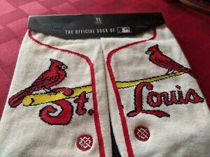 MLB STANCE St Louis Cardinals Team Youth Large Socks Size 2-5.5 baseball