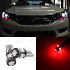 Red Light LED Headlight Strip Bulbs For 2013 + Honda Accord 4dr Sedan 2dr Coupe