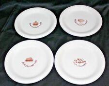 "Set of 4 BIA Cordon Bleu Chocolate Lovers Embossed Dessert Plates 6"" Diameter"