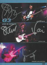 G3 - Signed Live in Denver Dvd. Satriani Vai Malmsteen