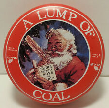 Vintage - The Tin Box Co Of America Santa A Lump Of Coal Tin Can - Free Shipping