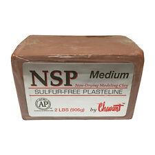 Chavant NSP Medium Sulfur- Plasteline Fine Art Clay - 2lb Block (906g)