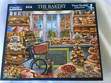 """White Mountain 1000 Piece Jigsaw Puzzle The Bakery 30 x 24"""" Made in USA"""