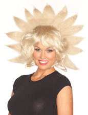 Ladies Blonde Fake Hair Lady G Wig Sunshine Burst Fancy Dress Accessory Outfit