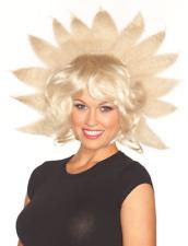 Mesdames Blonde faux cheveux Lady G Perruque Sunshine Explosion accessoire robe fantaisie costume
