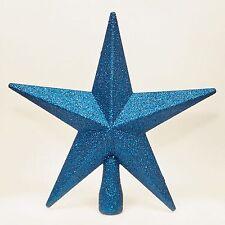 Weihnachts Dekoration M blau Tree Top 200mm bruchsicher Glitter Star