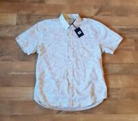 BILLY REID standard large cream floral shirt made in Italy $185 NEW WITH TAGS