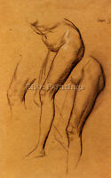 WATTS GEORGE FREDERICK  NUDE STUDIES LONG MARY 2 BEING STUDIES FOR EVE PAINTING