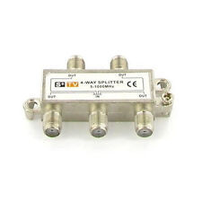 4-Way Coax Cable Splitter 1Ghz Cable TV Video HDTV