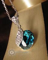 Crystals/Aqua/Princess Pea Pendant&Necklace/RGN267S