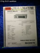 Sony Service Manual CDX F5700 /F5705X CD Player (#4125)