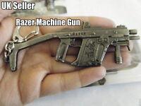 SOLID METAL RAZER MACHINE SNIPER GUN ASSAULT RIFLE KEYRING KEY CHAIN GIFT IDEA