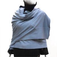 Cashmere Company Sciarpa Donna Celeste Scialle Coprispalle Lana Cashmere Stola