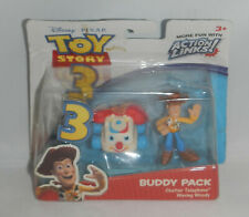 Disney Pixar Toy Story 3 Buddy Pack Chatter Telephone Phone Waving Woody Figures