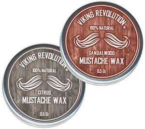 Mustache Wax 2 Pack - Beard & Moustache Wax for Men - Strong Hold Helps Train &