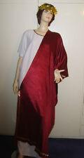 Da Uomo Imperatore Romano Senatore Toga Giulio Cesare Costume M/L utilizzati