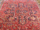 8'x11' Handmade wool Authentic Antique Herizz Oriental Vintage area rug