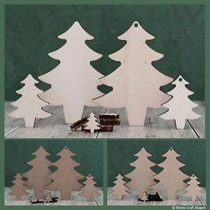 Wooden Christmas tree shape, craft blank, mdf or plywood xmas cutout to decorate