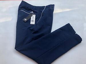 Men's NWT Adidas Fallweight Golf Pant Polyester Blend Flat Front Navy Size 32x28
