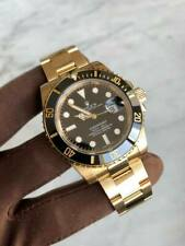 Rolex Submariner Date Men's Black Dial Watch - 116618LN 18k Yellow Gold