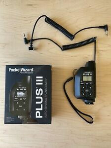 Pocket Wizard Plus III Transceiver Radio Trigger (Black)