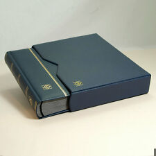 Leather Stockbook Lighthouse (64 Pgs.) Blue -w/slipcase- LZS4/32KBl - 30% OFF