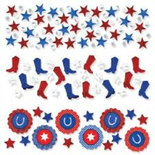 Bandana Blue Jeans Red Paisley Western Party Supplies Table Scatter Confetti