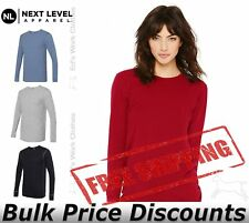 Next Level Unisex Long Sleeve Thermal T Shirt Top  8201 up to 2XL