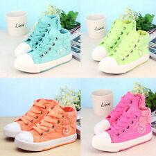 Schuhe für Mädchen aus Segeltuch mit Schnürsenkeln und medium Breite