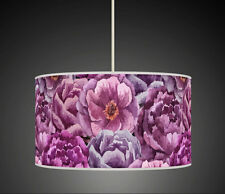 Bold Purple Floral flower Handmade lampshade printed fabric pendant light 638