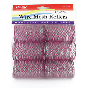 """ANNIE WIRE MESH ROLLERS #1026 6 COUNT PURPLE JUMBO 1 3/4"""""""