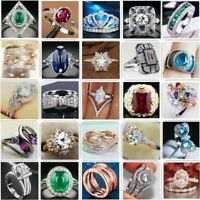 925 Fashion Silver Girl Lady Brand Women Band Wedding Rings Engagement Jewelry T