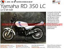 YAMAHA RD 350 LC ( Coupe YAMAHA Gauloise RDLC ) 1980 Fiche Moto 000257