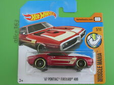 Hot Wheels 2017 - ´67 Pontiac Firebird 400 - Muscle Mania - 284 - NEU scatola