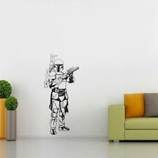 BOBA FETT Star Wars WALL STICKER Decal Art Mural Stencil Silhouette ST195