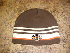 Cleveland Browns Reebok NFL OSFA YOUTH Cuffless Knit Hat/Beanie Free Ship