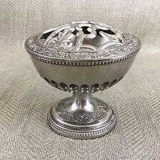 nuevo anuncio vintage rose bowl urna bud vase mediados de siglo s s plateado plateados