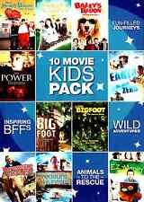DVD 10 Movie Kids Pack fun Power Within Earth Minus Zero Bigfoot Treasure Hunter