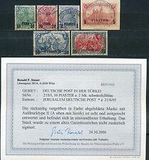 DP Türkei Aufdruckserie 1903 gute Type Michel aus 12/23 II Bef./Attest (S11168)