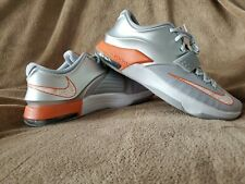 e584b3c4bb9 Nike KD VII Texas Longhorns ZOOM 13.5 NEW 653996-080 Silver Grey Orange  LeBron