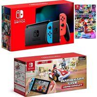 Nintendo Switch Neon W /Mario Kart 8 W / Mario Kart Live Home Circuit Mario Set