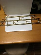 Vintage Brass Collapsible 24� Wall Hanging Coat/Hat Rack 7 Two Way Hooks