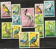 Burundi African Fauna Birds stamps set 1963