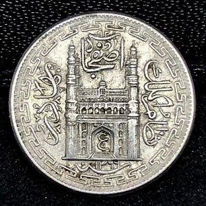 SCARCE~ BU~ India.~ Hyderabad ~ 2 Annas, Nickel ~ 1366/37.~ Y64.