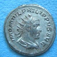 ROME Heavy Antoninianus Denarius PHILIP I ARAB Felicitas Silver XF - EF #2