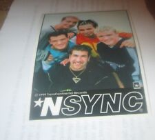 NSYNC STICKER NEW 2000'S VINTAGE RARE COLLECTIBLE TIMBERLAKE BASS CHASEZ FATONE