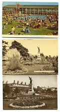 3 Vintage 1 real photo Pool Memorial Gardens Clacton-on Sea England Postcards